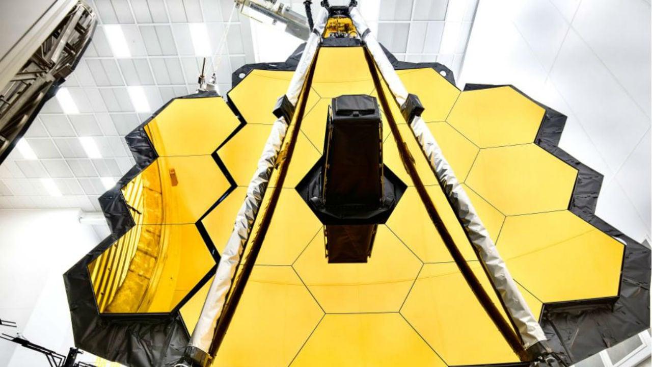 Reflective surfaces of the James Webb Space telescope. Image Courtesy: NASA/Twitter
