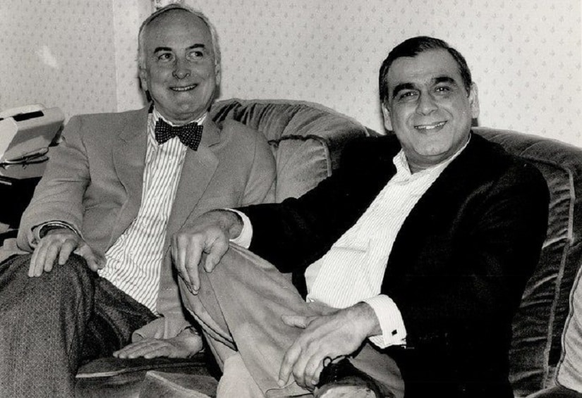 James Ivory (left) along with Ismail Merchant (right). Facebook