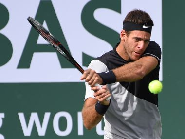 Juan Martin Del Potro during his third round match against David Ferrer. Reuters