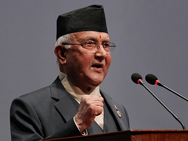 File image of KP Oli. AP