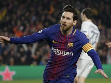 Lionel Messi brought up his Chemapions League century to inspire Barcelona to win over Chelsea. AP