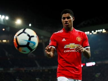 Marcus Rashford starts for Manchester United against Sevilla. Reuters