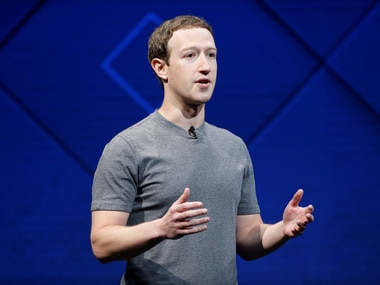 Facebook Founder and CEO Mark Zuckerberg speaks on stage. Image: Reuters