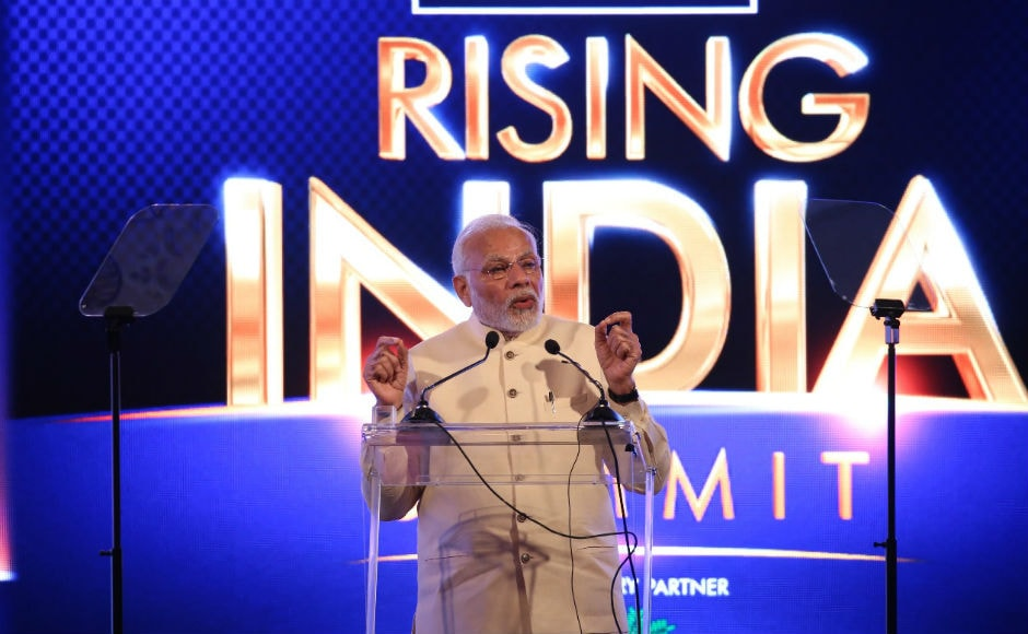 News18 Network kicked off the the two-day summit titled 'News18 Rising India Summit' on Friday. Prime Minister Narendra Modi, delivering the keynote address, said the words 'Rising India' give us a vision of someone moving from darkness to light. 'Rising India' signifies growing, moving forward in life, he said.