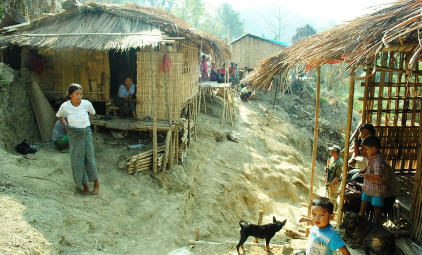 Refugees from Myanmar's Zhakoi community in Mizoram. Firstpost