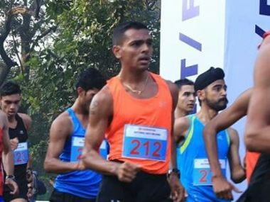 Neeraj Rathi finished fourth in Asian Race Walking Championship. Twitter/@afiindia