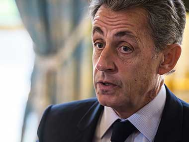 File image of former French President Nicolas Sarkozy. AP