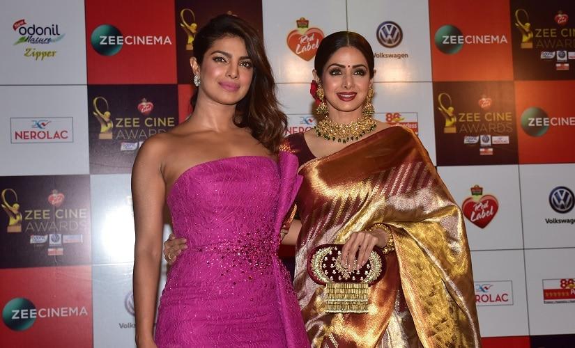 Priyanka Chopra and Sridevi. Image via Twitter
