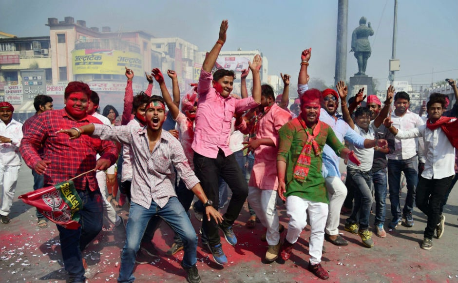 In Phulpur, Samajwadi Party candidate Nagendra Pratap Singh Patel defeated his nearest Bharatiya Janata Party rival Kaushlendra Singh Patel by 59,613 votes, leading to noisy celebrations and calls for Opposition unity across the nation to defeat the BJP in next year's Lok Sabha battle. PTI