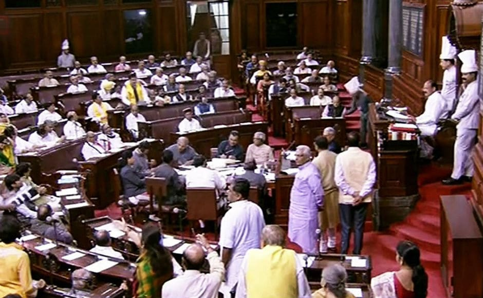 After 3 pm, members from TDP, AIADMK and Congress trooped into the Well raising slogans and carrying placards. As the slogan-shouting continued, Deputy Chairman PJ Kurien adjourned the House for the day. PTI