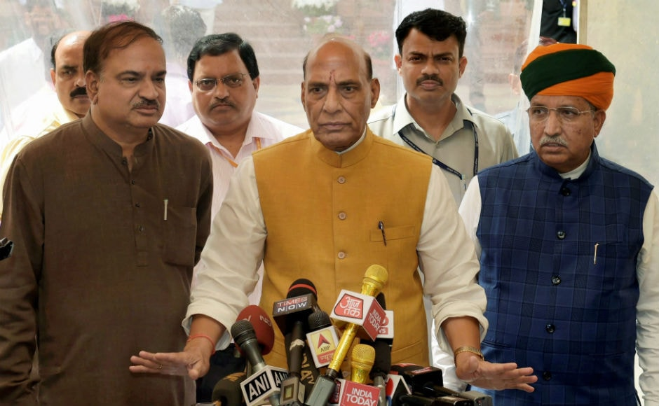 Addressing a press conference after the session, Rajnath Singh expressed concern over the logjam in parliament urging the political parties to ensure smooth functioning of both the Houses. He also made it clear that the government was ready to discuss any issue to be raised by the Opposition. PTI