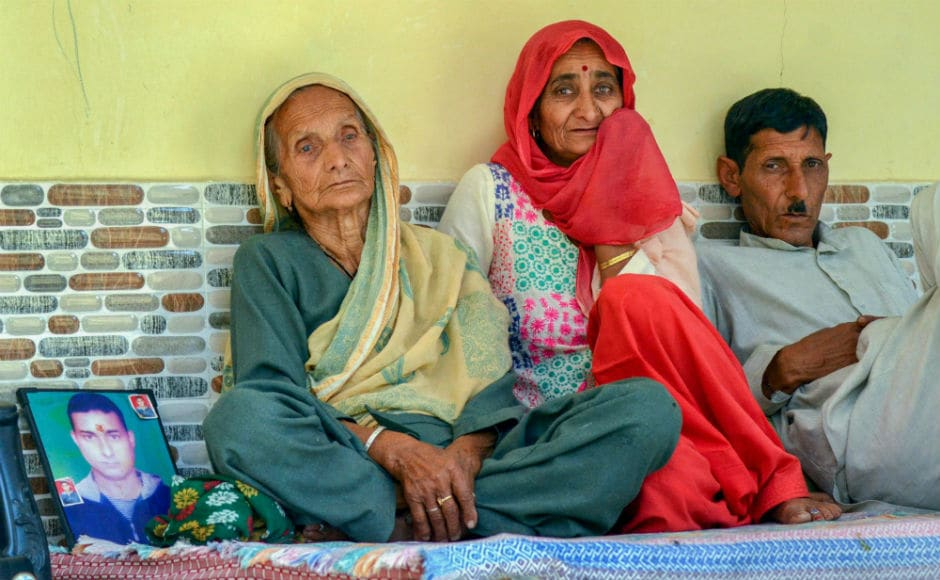 Family members of one of the 39 Indian workers killed in Iraq, grieve at their home at Passu village in Himachal Pradesh's Dharamshala. As many as 40 Indians were abducted by the Islamic State in June 2014 and the Indian High Commission later confirmed losing touch with those lost. PTI