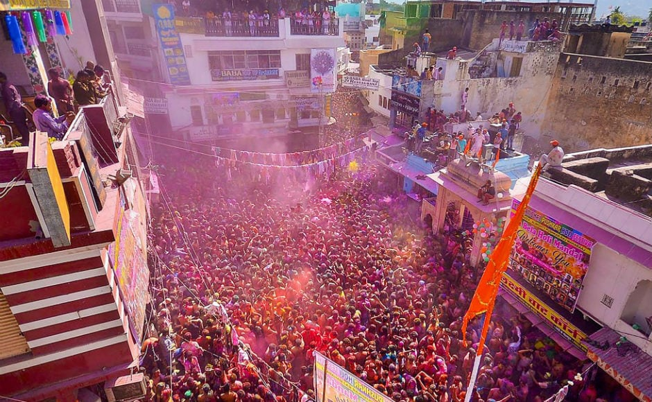 Holi, the festival of colours, was celebrated across India with traditional fanfare and gaiety on Friday. PTI
