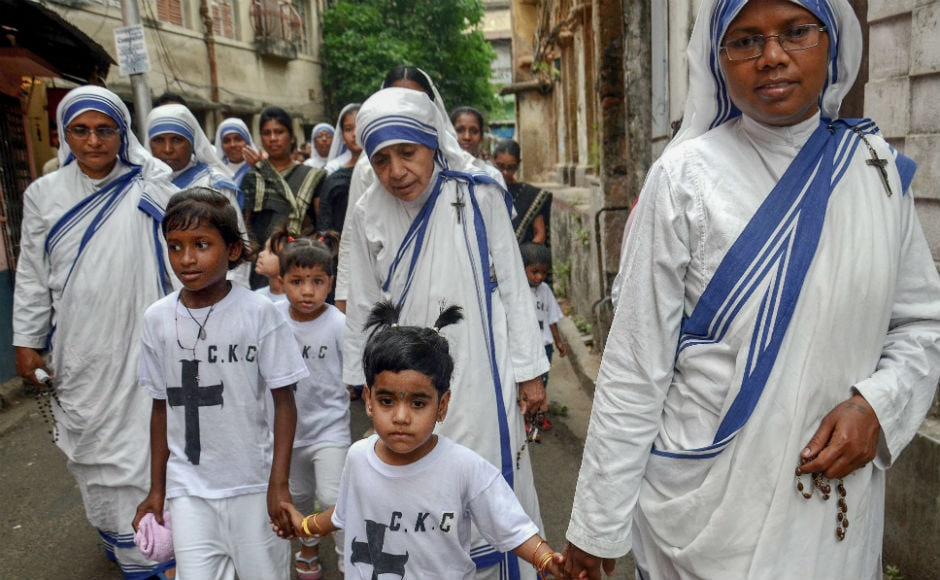 Some churches also hold special services on Good Friday evening to commemorate the day. Christians taking out processions in Kolkata. PTI