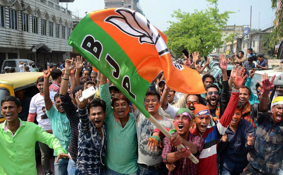 The BJP which had no MLAs in the outgoing Assembly and had polled just 1.5 percent votes in the 2013 elections, losing deposits in 49 of the 50 constituencies it contested, recorded a scintillating performance securing over 42 percent of votes PTI