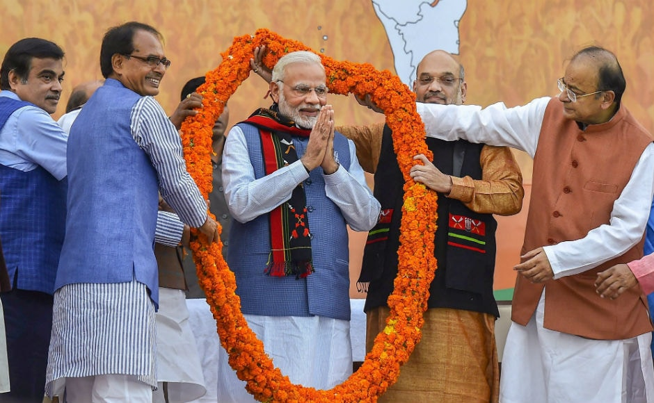 BJP has gone from 'No One' to 'No 1', from 'shunya to shikhar'. Taking a dig at the CPM, the prime minister said that when the sun sets, it is red and when it rises, it is saffron. He furher added that a day after India celebrated Holi, saffron has washed away all the colours. PTI
