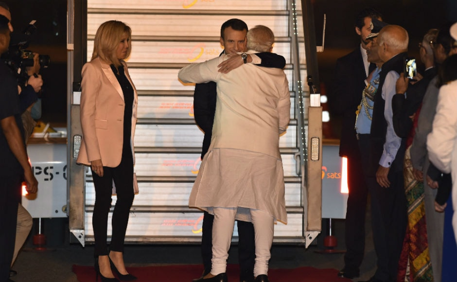 Macron was accompanied by his wife Brigitte Marie-Claude Macron, besides senior ministers from his Cabinet. President Macron will also visit Varanasi, the parliamentary constituency of Modi, on 12 March. PTI