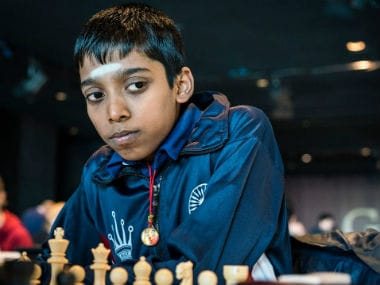 R Praggnanandhaa at the Reykjavik Open 2018. Image Courtesy: Lennart Ootes