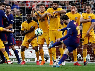La liga lionel messis run of spectacular goals from dead ball soccer football la liga santander fc barcelona vs atletico madrid camp nou stopboris Gallery
