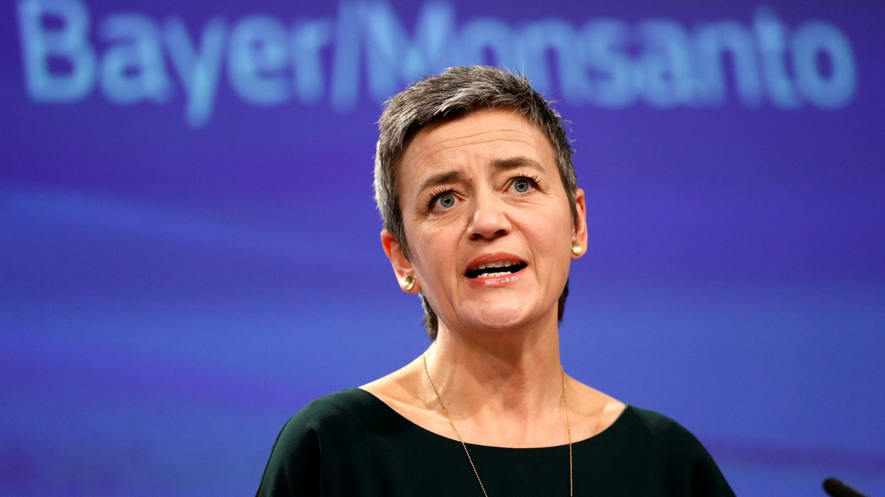 EU antitrust chief Margrethe Vestager in favour of regulating data access over breaking up big tech firms