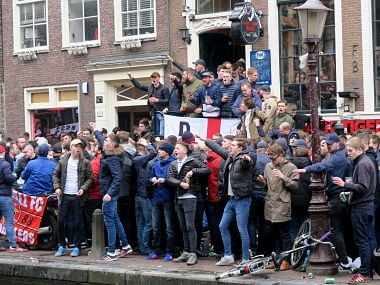 International friendlies: Almost 100 England fans arrested by Amsterdam police for disrupting public order