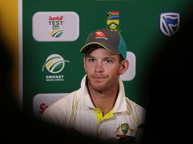 Tim Paine addressing the media on eve of fourth and last Test against South Africa. Reuters