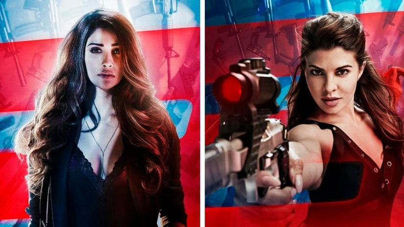 Daisy Shah (left) and Jacqueline Fernandez (right) in Race 3 posters. Facebook