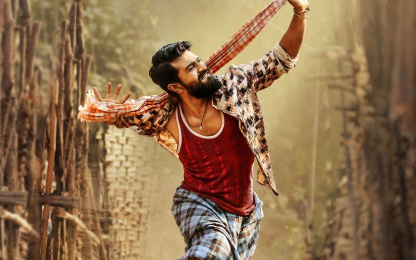 Ram Charan in a promo for Rangasthalam. Image via Twitter