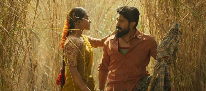 Samantha Akkineni and Ram Charan in a still from Rangasthalam. YouTube