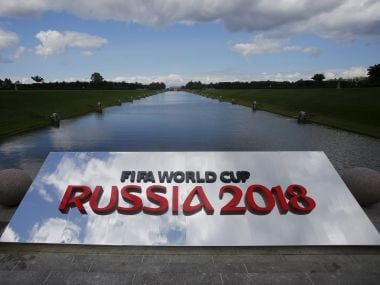 The 2018 World Cup logo. Reuters