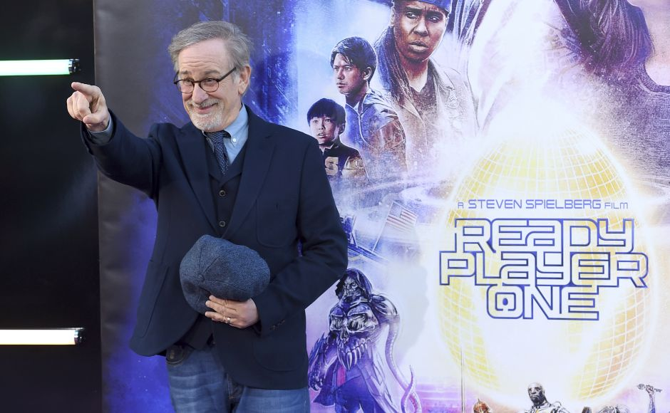 Steven Spielberg arrives at the world premiere of Ready Player One at the Dolby Theatre in Los Angeles. Jordan Strauss/Invision/AP