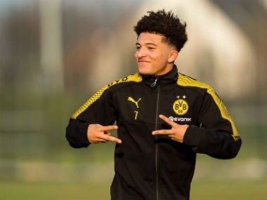 Jadon Sancho during a training session. Image Courtesy: Twitter @Sanchooo10
