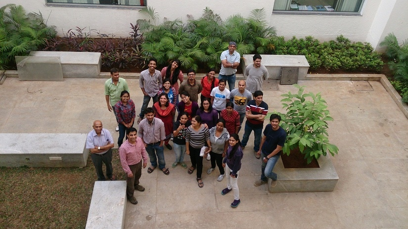 At Professor Sanjeev Galande's lab in the Center of Excellence in Epigenetics at IISER, Pune. Photo provided by Sonam Mehrotra