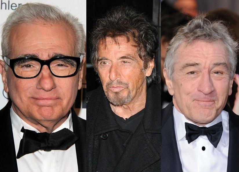 Martin Scorsese, Al Pacino and Robert De Niro. Image via Twitter