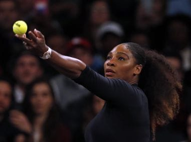Serena Williams in action during the TieBreak Tens at Madison Square Garden. Reuters