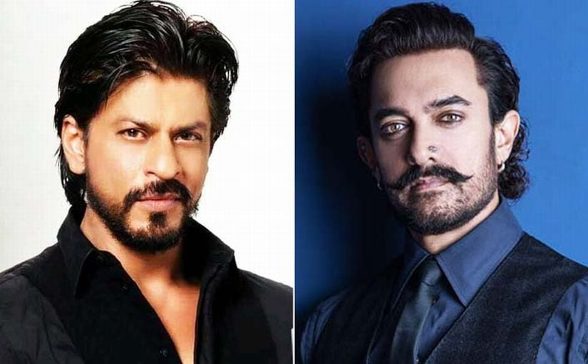 Shah Rukh Khan (L) and Aamir Khan. Image via Twitter