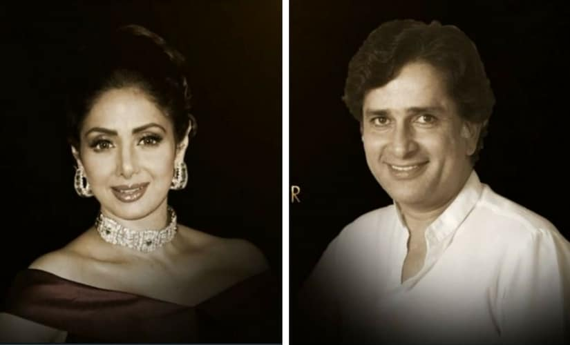 Sridevi and Shashi Kapoor/Image from Twitter.