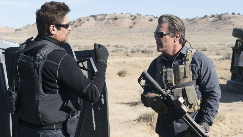 Benecio del Toro and Josh Brolin in a scene from the film, Sicario: Day of the Soldado.