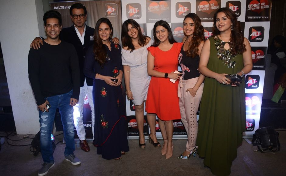Manraj Singh, Ronit Roy, Mona Singh, Ekta Kapoor, Palak Jain, Pooja Banerjee and Gurdeep Kohli attend the special screening. The show will stream on the ALTBalaji app and the website on 16 March.
