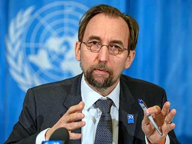 File image of UN human rights chief Zeid Ra'ad Al Hussein. AP