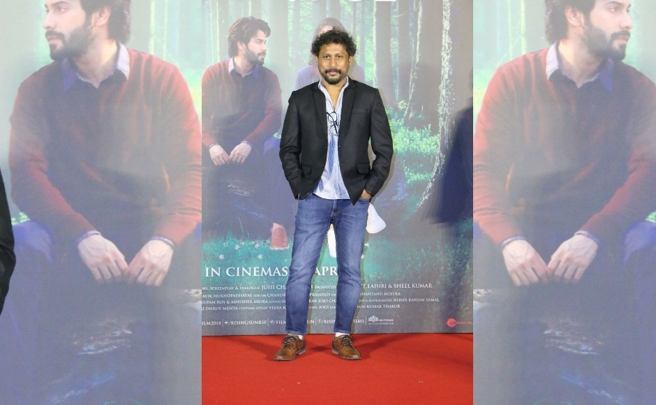 Shoojit Sircar, the director of October, poses for the cameras.