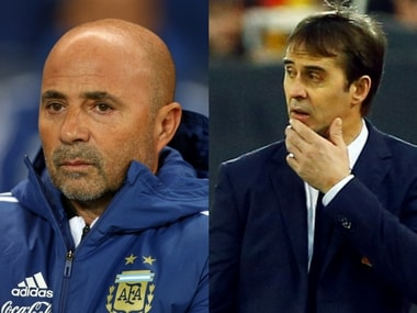 Jorge Sampaoli and Julen Lopetegui need to sort their forward line. Agencies