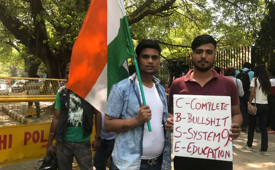 Many students claimed that almost all the papers had been leaked a day before the examinations and demanded that if a reexamination is to be held, it should be held for all the subjects. Firstpost/Pallavi Rebbapragada