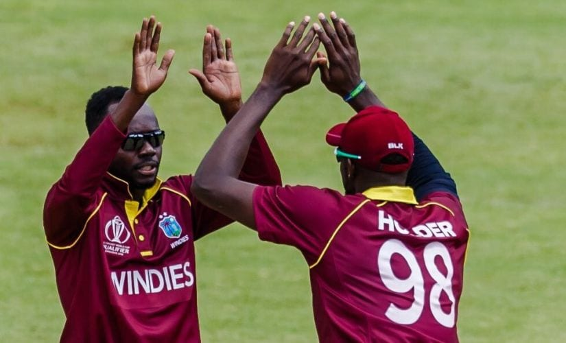 The Windies are the strongest side on paper in the Cricket World Cup Qualifier. Image courtesy:  Twitter @westindies