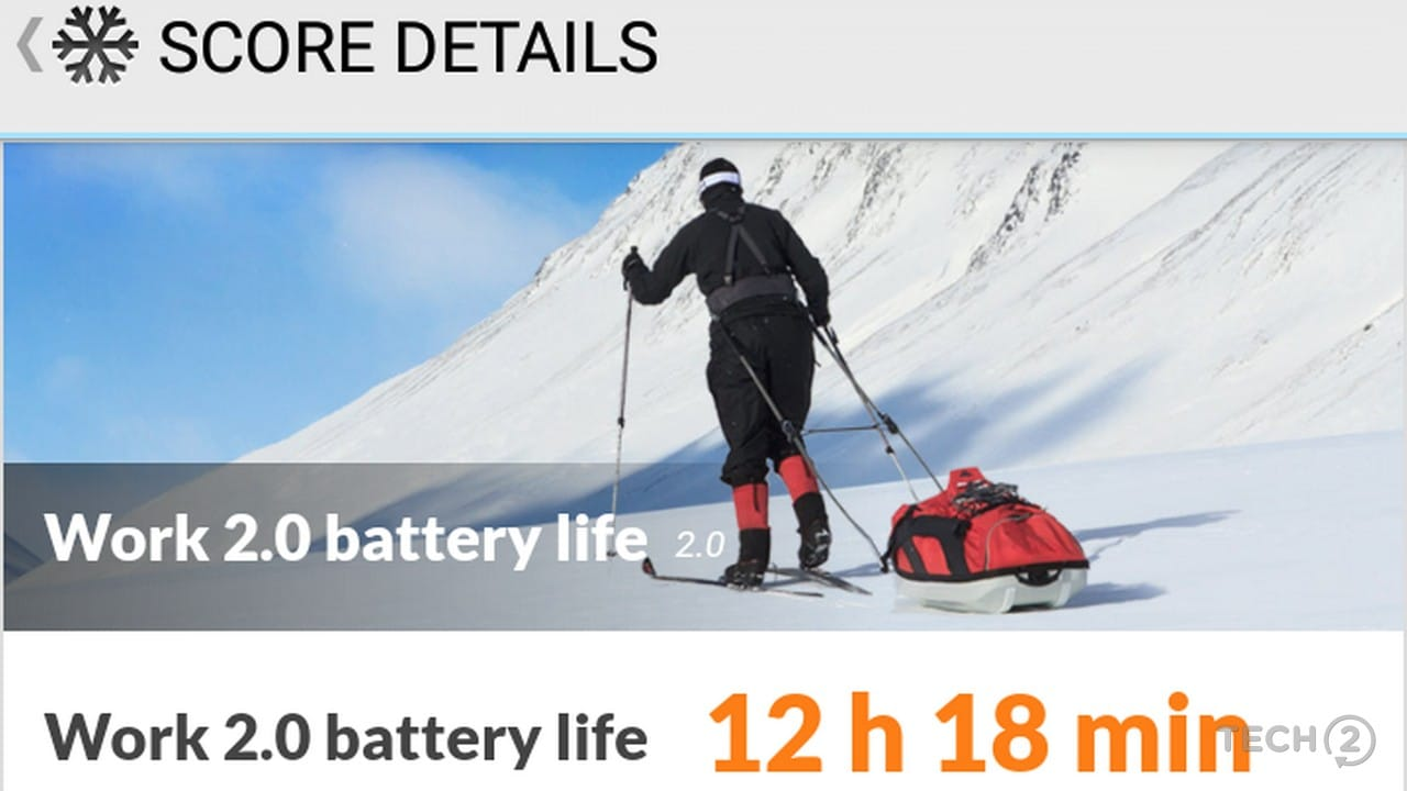 PC Mark Work 2.0 Battery Life results