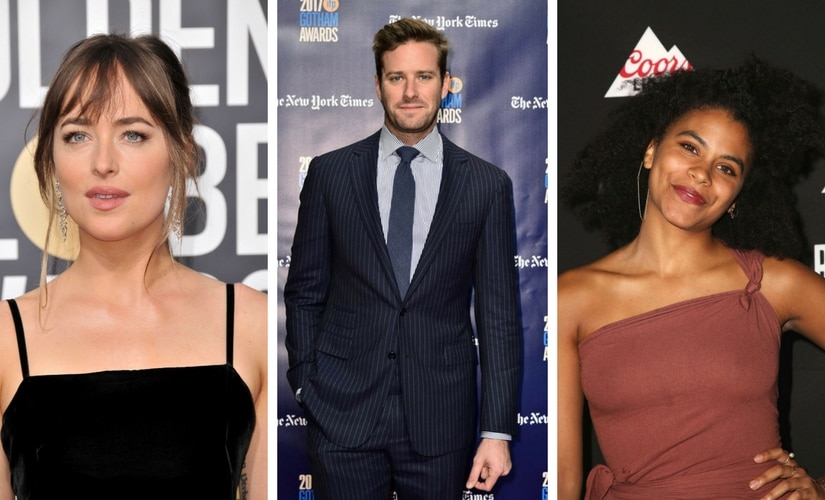 Dakota Johnson, Armie Hammer and zazie Beetz/Image from Twitter.