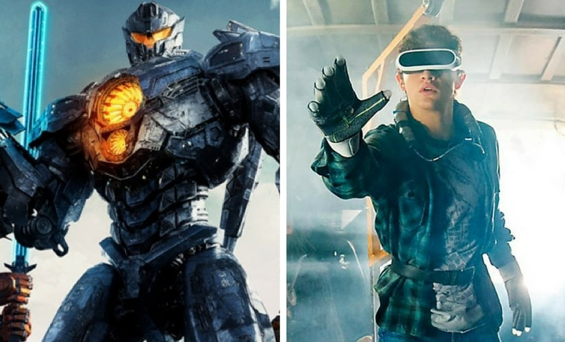 Stills from Pacific Rim: Uprising and Ready Player One/Image from Twitter.