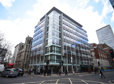 The offices of Cambridge Analytica in central London. AP