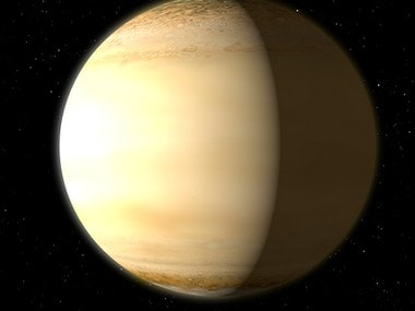 """Hubble and Spitzer space telescopes to find the """"fingerprints"""" of water in the atmosphere of a hot, bloated, Saturn-mass exoplanet some 700 light-years away. NASA"""