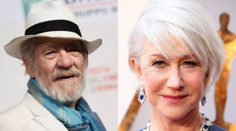 Ian McKellen and Helen Mirren. Image from Twitter/@TheInSneider